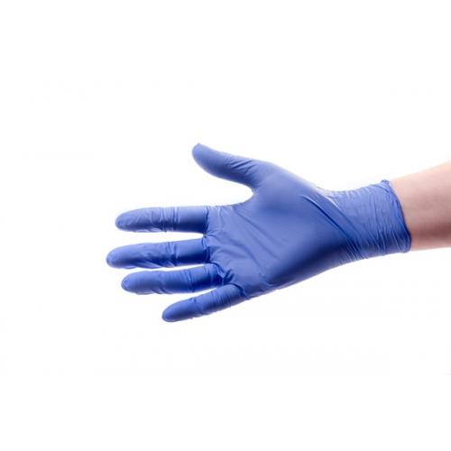 Nitrilové rukavice - modré, vel. M
