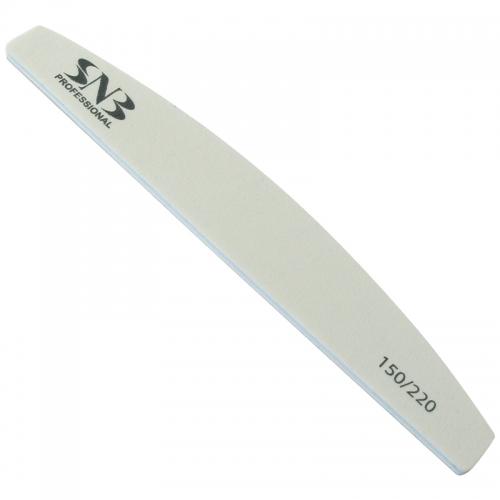 Široký šedý brusný pilník půlměsíc 150/180